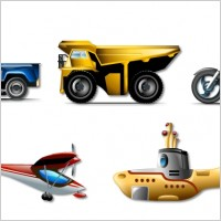 Link toTransportation brilliant icons icons pack