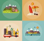 Link toTravel holidays illustration vector