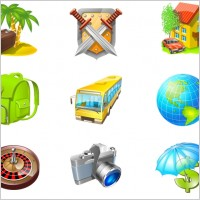 Link toTravel icon set icons pack