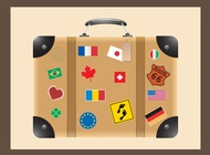 Travel suitcase vector free