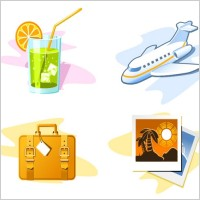 Link toTravel theme icon vector