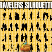 Link toTraveling people silhouettes