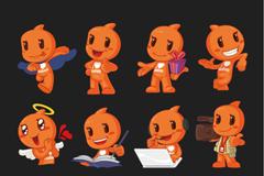 Link toTreasure doll mascots vector
