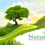 Link toTree and natural scenery vector background 05 free