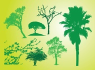 Link toTree bush silhouettes vector free