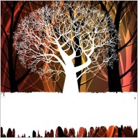 Link toTree silhouette background 02 vector