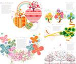 Link toTrees flower motif vector