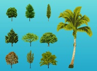 Link toTrees illustrations vector free