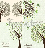 Trees outline background vector