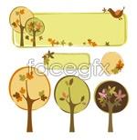 Link toTrees theme decorative box vector