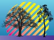 Link toTrees vector illustration free