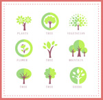 Link toTrees with icon design vector