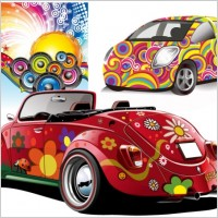Link toTrend disco party and car vector