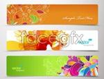 Link toTrend flower banner vector