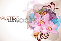 Link toTrend flower business card background vector