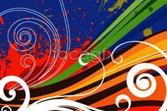 vector background line moving fun Trend