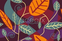 Link toTrend leaves background vector