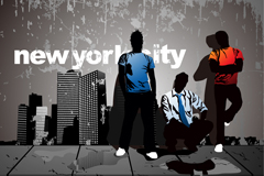 Trend new york, vector illustration