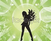 Link toTrend of female silhouettes vector
