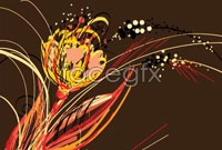 Link toTrend of peacock feather vector background for five