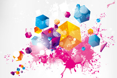 Link toTrend of printing background vector