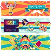 Trend pattern banner vector template