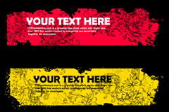 Trend pattern text box, vector