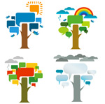 Trend seasons tree vector