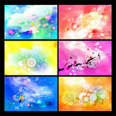 Link toTrends colorful flower background psd