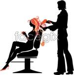 Link toTrends hair people silhouette vector