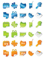 Link toTri-color corner stickers vector