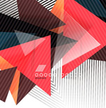 Link toTriangle cascading backgrounds vector