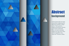 Link toTriangle cut stacked paper background vector