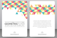Link toTriangle decorated flyer vector