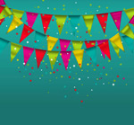 Link toTriangle flag background vector