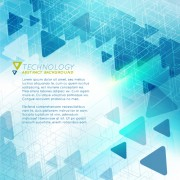 Link toTriangle technology abstract background vector 01 free