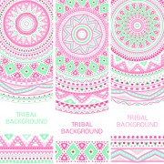 Link toTribal decorative pattern backgrounds vector 05 free