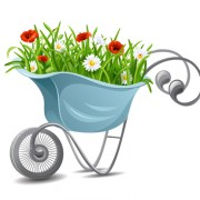 Link toTrolley with flower design vector free