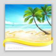 Link toTropical islands holiday background design vector 03 free