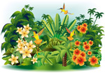 Tropical landscape illustrator vector