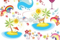 Link toTropical rainforest of cartoon vector