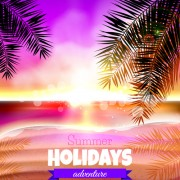 Link toTropical summer holidays vector background art 01 free