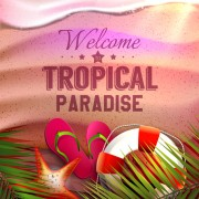 Link toTropical summer holidays vector background art 02 free