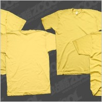 Link toTshirt yellow blank trend template psd layered