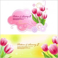 Link toTulips and vector fantasy background