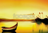 Link toTwilight calm lake view high definition pictures