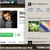 Link toTwitter background gui photoshop psd