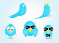 Link toTwitter bird cartoon vectors free