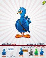 Link toTwitter bird icon free psd