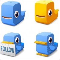 Link toTwitter block icons icons pack
